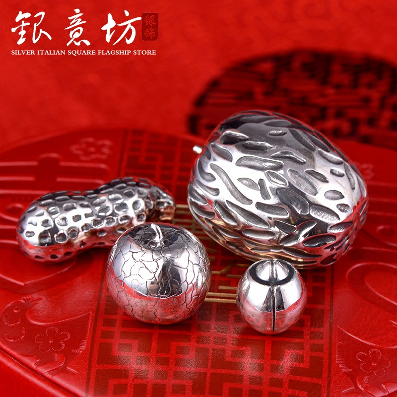 Buy Silver Italian Square Silver Fine Silver Ornaments Early Takako