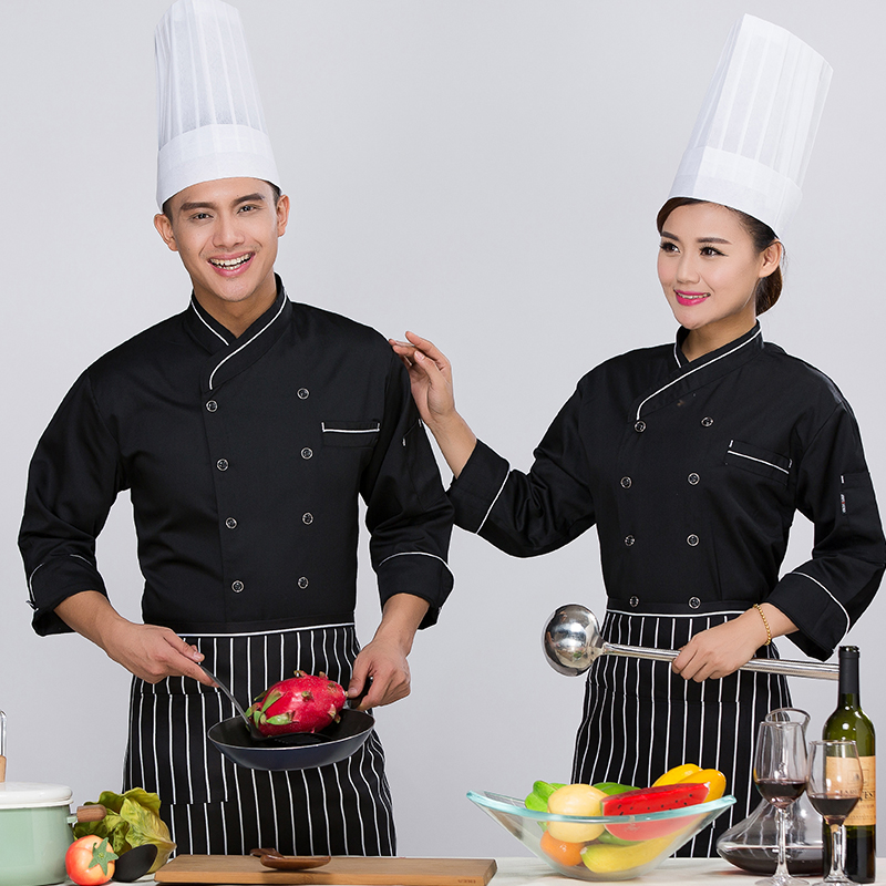 Buy Sleeved Chef Service Hotel Chef Uniforms Kitchen Chef