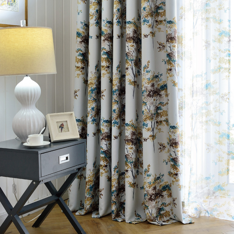 Buy South Court Thick Full Blackout Curtains Finished Printing Custom  Modern American Living Room Bedroom Floating Window Curtains In Cheap Price  On ...