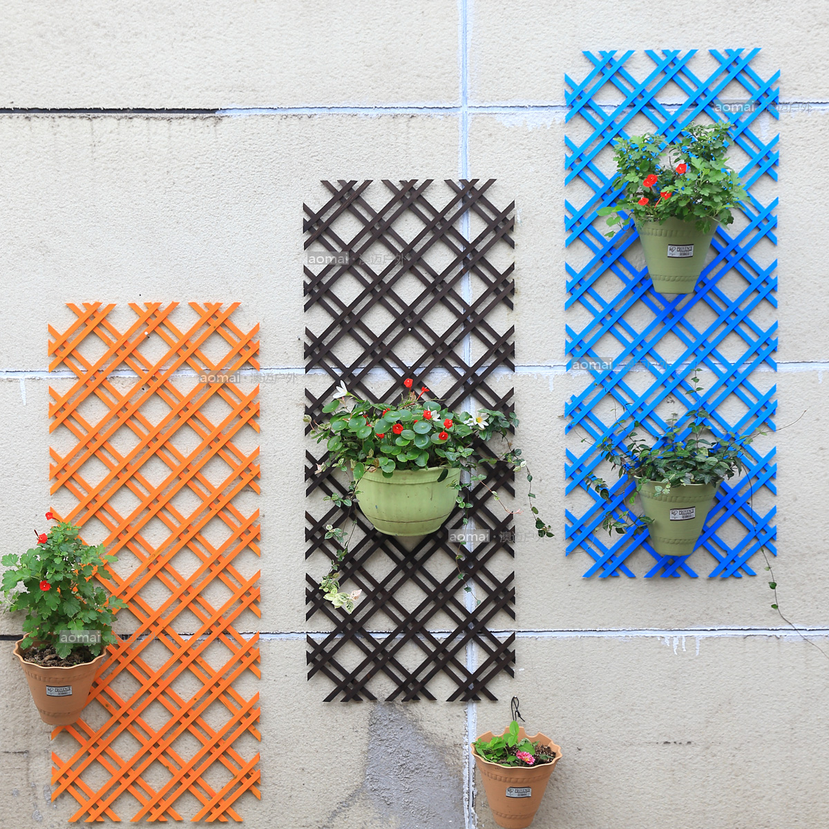 Special Gardening White Grid Mesh Parion Wall