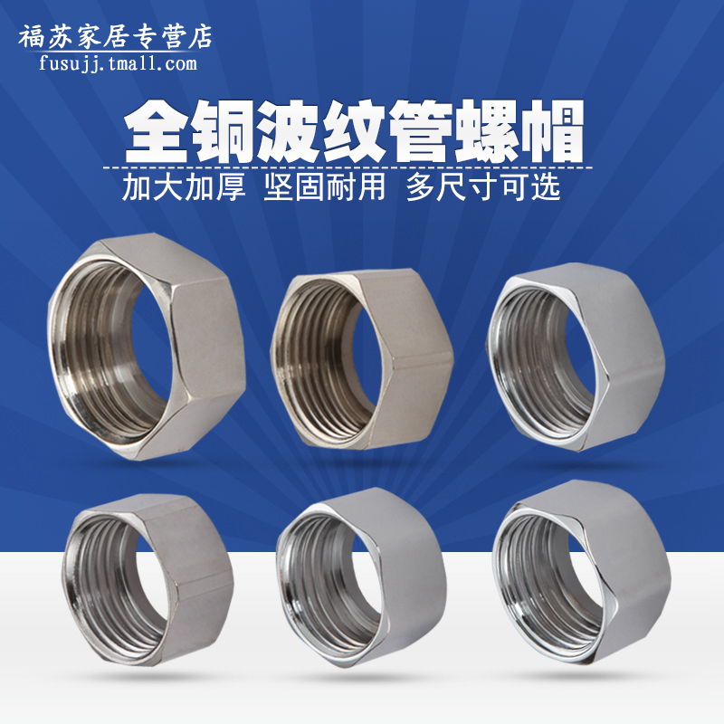 Stainless steel bellows nut 4 points 6 points 1 inch water heater 304 stainless steel corrugated flexible tube Gas pipe fittings copper fittings & Buy Stainless steel bellows nut 4 points 6 points 1 inch water ...