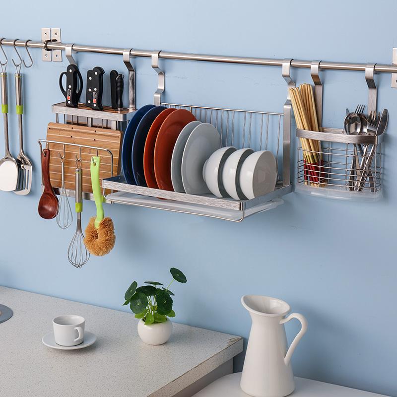 Stainless Steel Kitchen Wall Shelving Racks Rack Turret Seasoning Dish Pot Dishes Storage In Price On M Alibaba