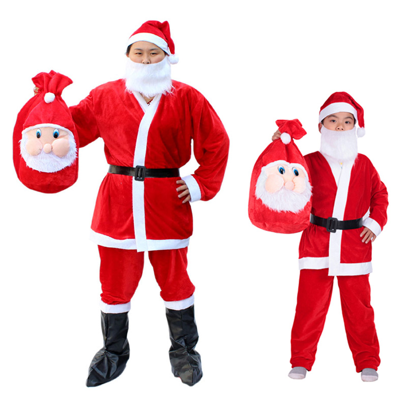 suits for boys and girls christmas costumes christmas clothes christmas santa claus costume adult childrens clothing clothes super soft suit