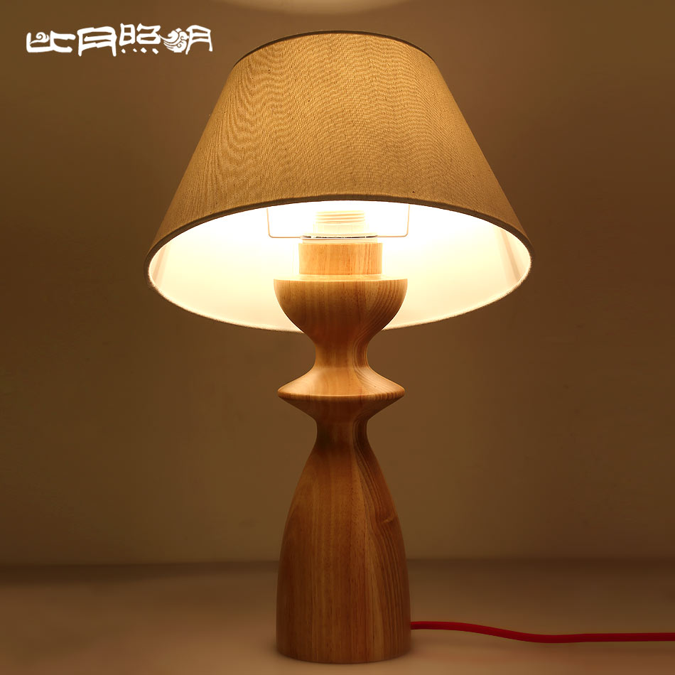 Buy Than The Month Of Simple Solid Wood Table Lamp Bedroom Lamp