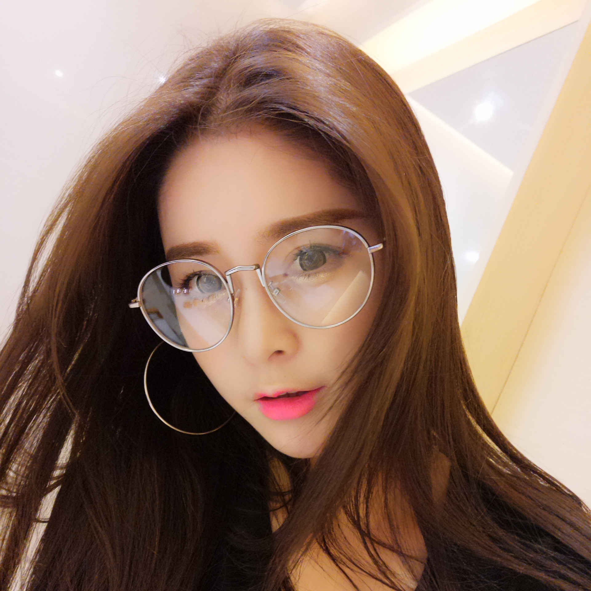 3cd44676ed21 The new south korean female influx of female literary retro round plain  glass spectacles 2016 nearly as the glasses frame glasses red mesh with the  money
