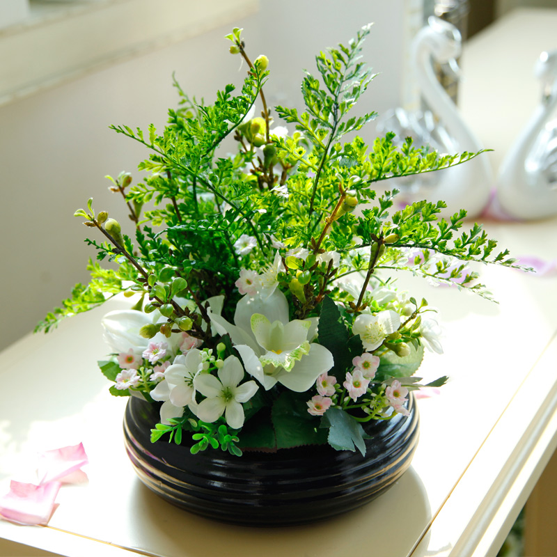 The Source Of Artificial Flowers Suit Fake Potted Fl Ornaments Living Room Coffee Table Flower Decoration