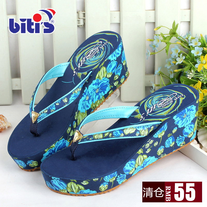 4859c03061344 Buy Vietnam cents flat bottomed sandals and slippers diamond slope with  high heel women slippers summer sandals muffin beach sandals slip shoes in  Cheap ...