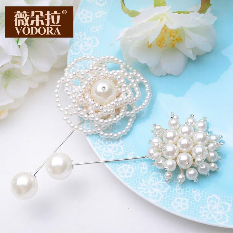 Buy Weiduo la korean pearl flower brooch pin brooch suit korean ... 9e611875bb