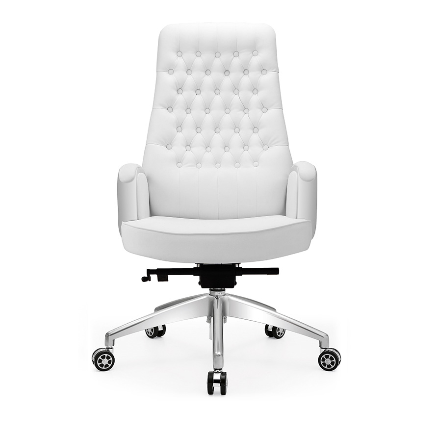 brand new 23c84 015e5 Buy White leather reclining chair boss chair computer chair ...