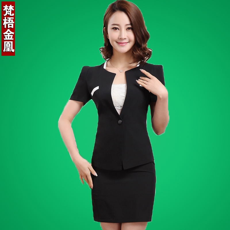 39137efbd2a Women wear dresses summer short sleeve bank hotel front desk manager of the  minister of western clothing fashion clothes for men and women ol tide