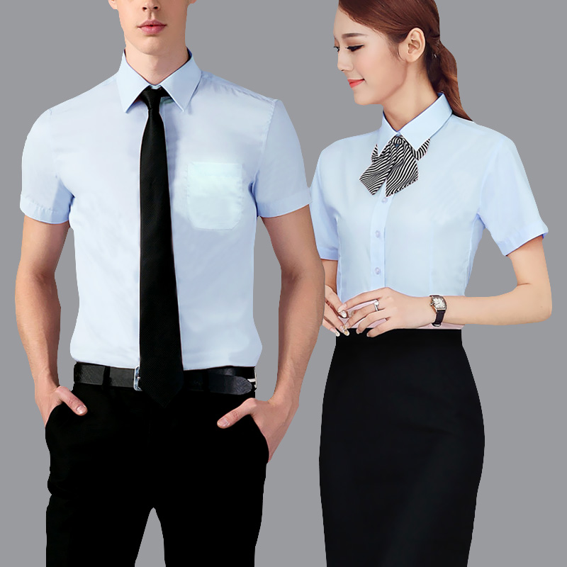 Buy Women wear skirt suits ladies short sleeve sleeve dress shirt business dress  shirt tooling work clothes custom logo in Cheap Price on m.alibaba.com 80759ce97