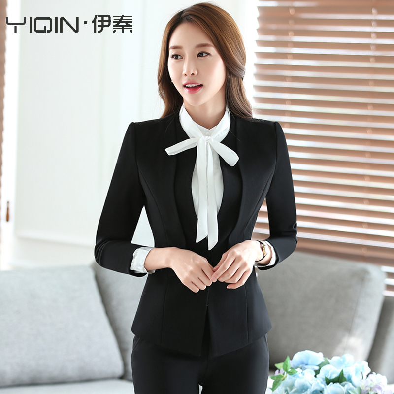 2e8767089a6 Buy Women  39 s autumn and winter wear suits hotel uniforms sleeved  overalls western dress suit ol ladies dress pants three sets in Cheap Price  on ...