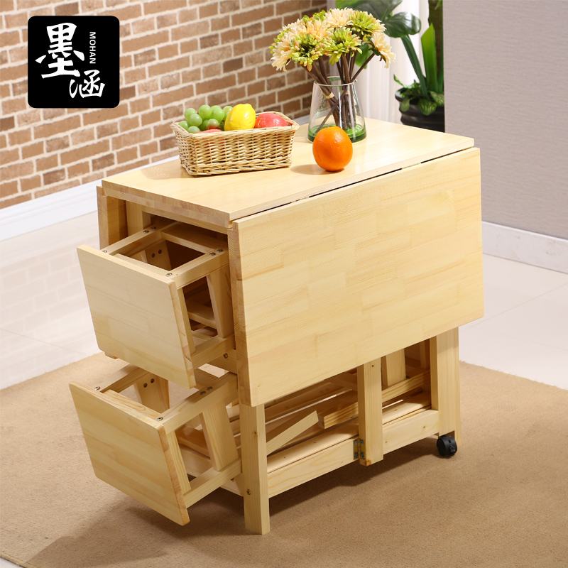 Buy Wood Folding Folding Multifunction Furniture Wood Rectangular Dining  Table Minimalist Modern Ikea Small Family Dinner Table In Cheap Price On  M.alibaba. ...