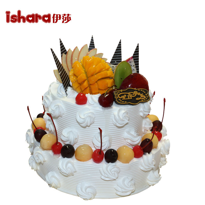 Buy Yisha 2 Layer Three Ming Ningde Succedging Weifang Xuzhou Birthday Cake Fruit Nationwide Courier Delivery Scheduled In Cheap Price On Malibaba