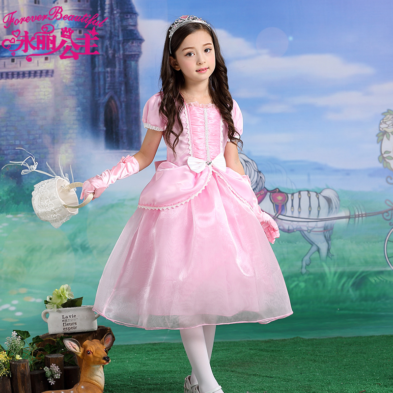 329fe206e47b0 Buy Yungli disney mermaid ariel children girls dress pink princess dress  tutu skirt for children to play out dress in Cheap Price on m.alibaba.com