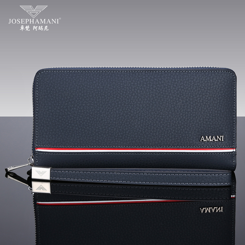 20bccfc7bd Buy Zhuo fan armani men wallet leather wallet long section of zipper ...