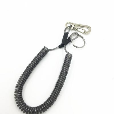 高弹伸缩彩色弹簧绳钥匙扣户外垂钓用品可以拉长1.5米钥匙防丢绳