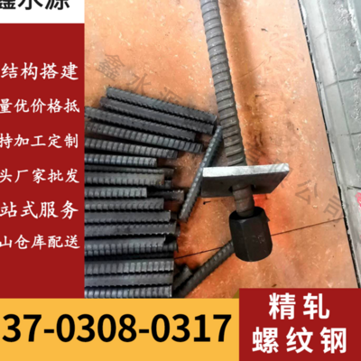 Factory direct sales PSB830 precision rolled rebar supporting anchor nut connector concrete bridge reinforcement