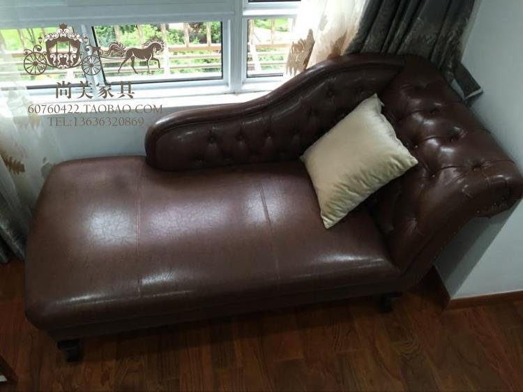 新古典贵妃椅 卧室酒店贵妃躺椅 pu皮贵妃沙发 拉扣太妃椅 美人靠