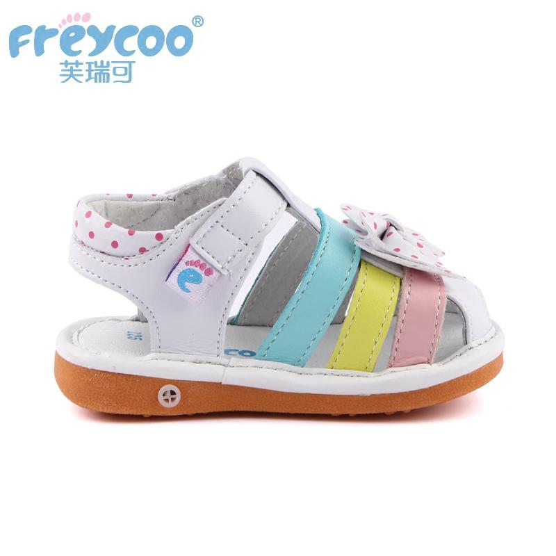 芙瑞可女童鞋真皮1-2-3岁小公主凉鞋可爱韩版防滑儿童凉鞋学步鞋