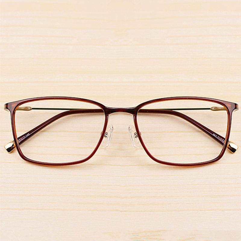 配镜韩版塑钢 超轻眼镜金属带鼻托男款女款近视眼镜框大脸成品  tr90