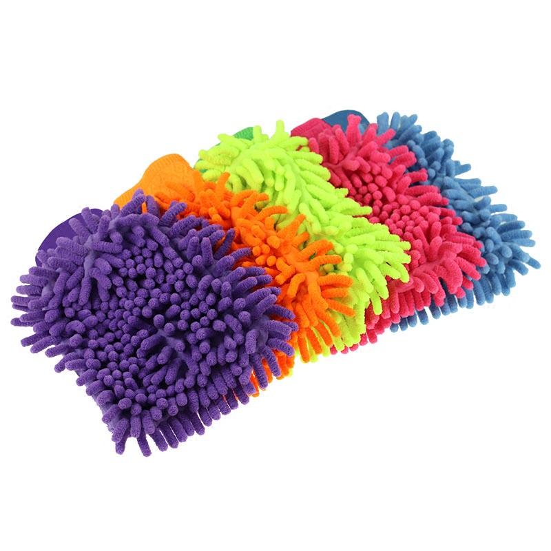 2只装 雪尼尔多功能加长毛毛虫  清洁手套 洗车手套 擦车手套
