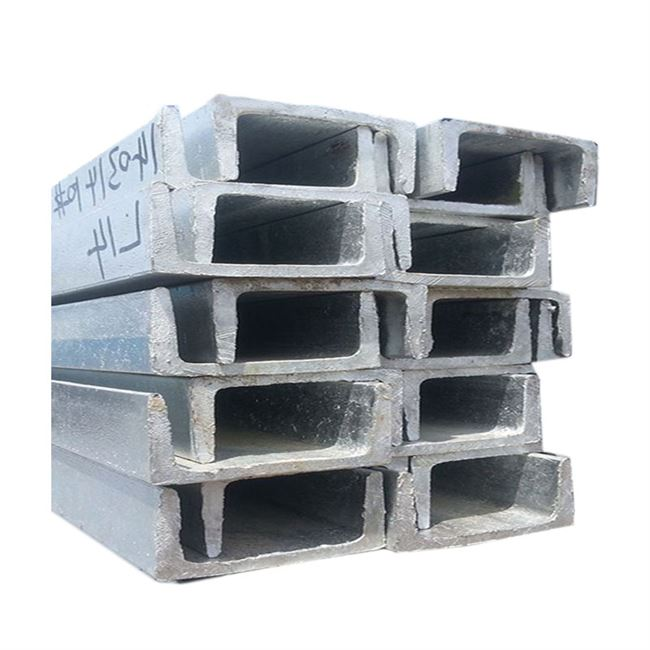 GB 304 stainless steel channel-type steel c h steel type No. 5 z 12mm8 galvanized steel beam 201u