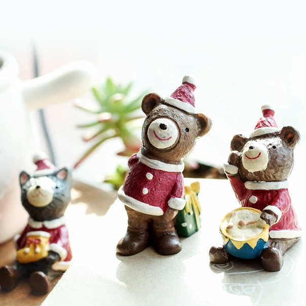 ZAA杂啊 森林圣诞音乐派对迷你圣诞节主题摆件 雪人麋鹿装饰品优惠券