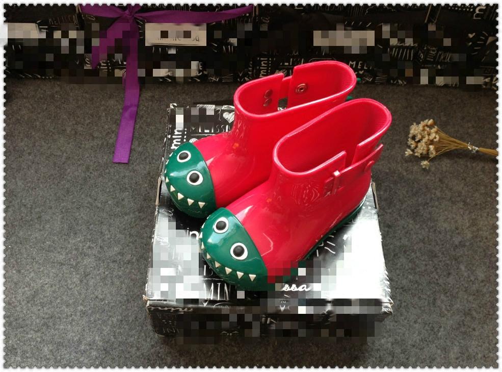 秋冬新款儿童雨鞋男女童卡通恐龙雨靴水鞋防滑韩版学生短筒水靴子
