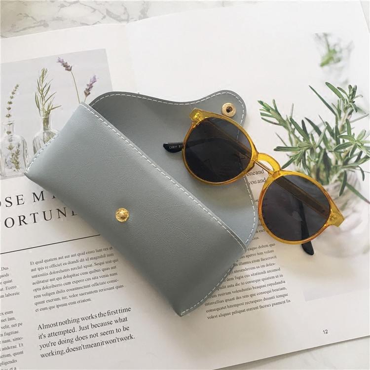 皮质眼镜包 墨镜盒  小清新眼镜盒 收纳盒