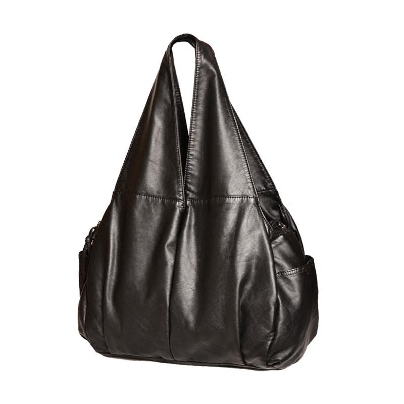 新款春夏百搭妈妈大包大容量手提包软皮简约单肩休闲中年女包 2018