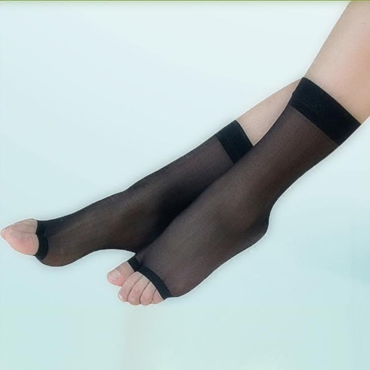 [10双装]二趾袜丝袜鱼嘴袜女袜裸色夏季分趾袜人字拖中筒超薄性感