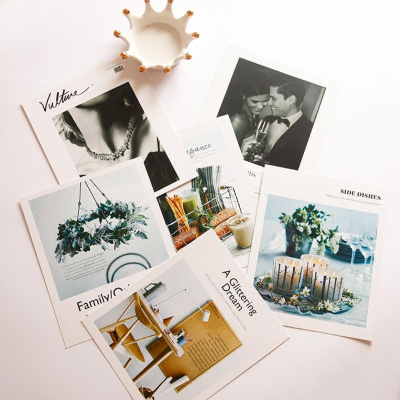 梦想家 INS北欧简约麻绳挂卡片照片墙 饰品美食拍摄道具背景卡片