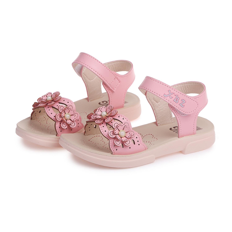 夏韩版大童女孩凉鞋女童小学生公主潮鞋中童凉鞋2019新款婴儿凉鞋