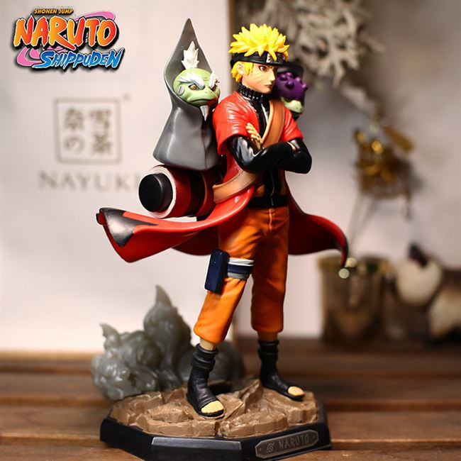 Best selling Naruto hand-made six or four generations of Naruto Fairy Mode toad Sasuke Kakashi model ornaments
