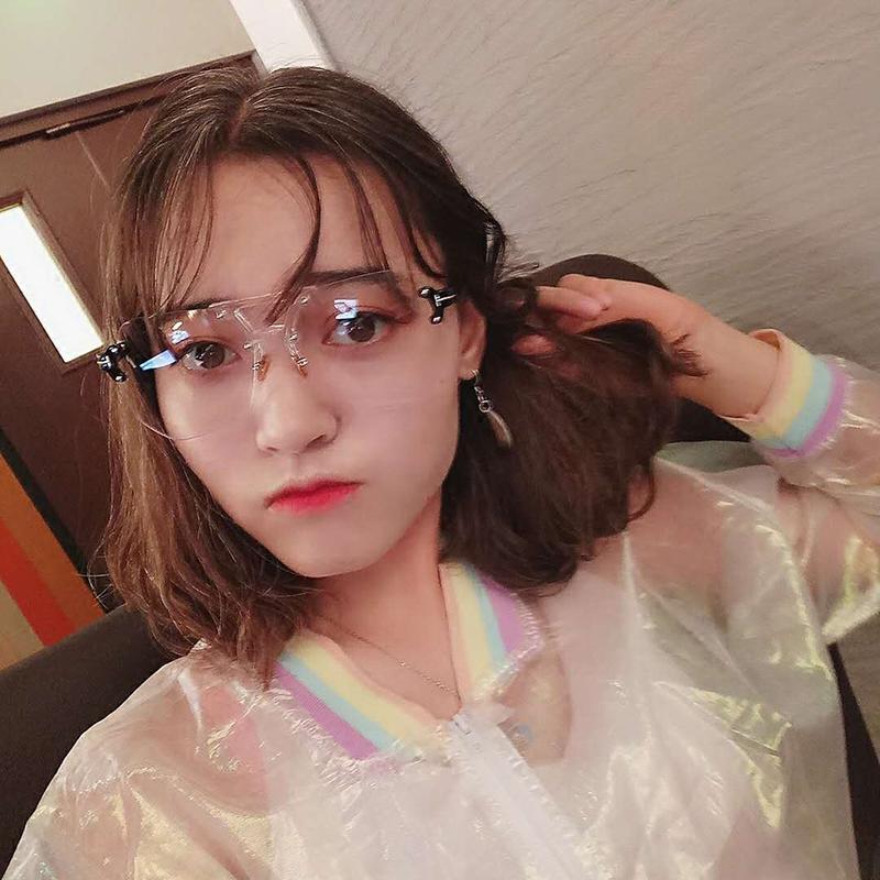 新款个姓不规则切边透明眼镜女潮明星款时尚大框网红眼镜男女 2017