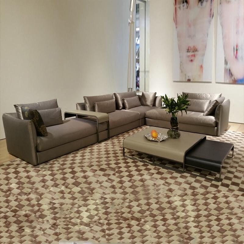 简约现代小户型真皮沙发北欧三人位布艺可拆洗客厅组合羽绒沙发
