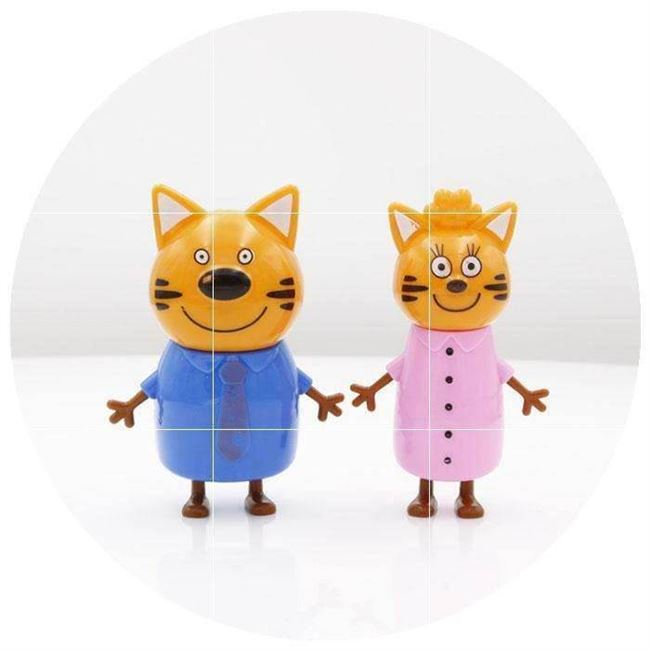 Russian cartoon doll hand to do a good microphone model three kittens cartoon children's toy doll ornaments