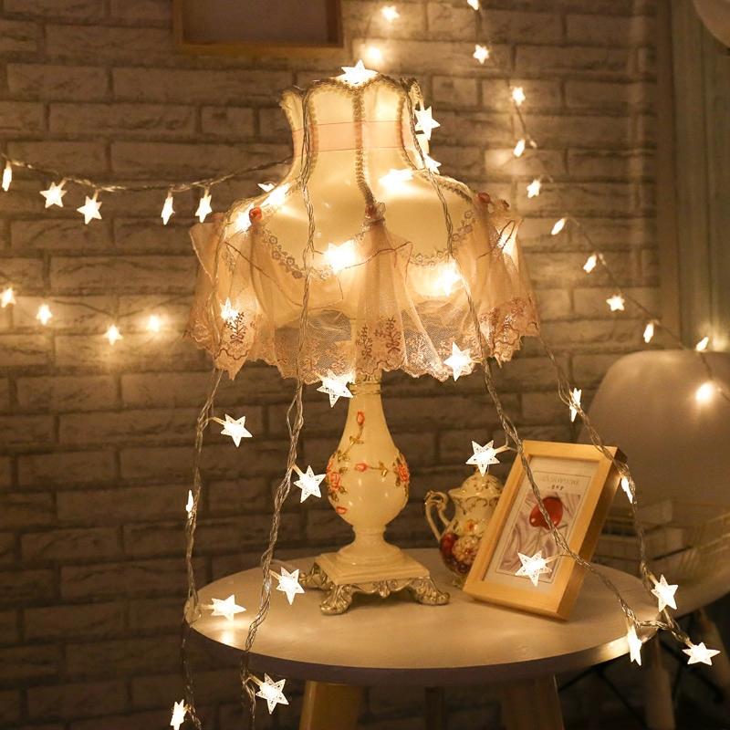 LED小彩灯闪灯串灯满天星出租屋改造房间装饰品灯饰网红布置星星的细节图片3