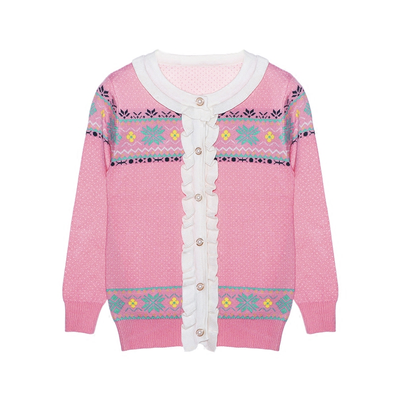 女童针织衫开衫2019春秋季新款儿童洋气韩版毛衣外套中大童装上衣