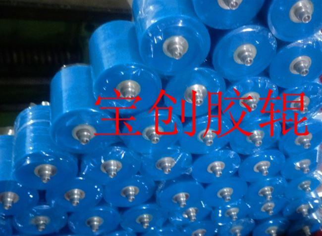 Pu tire roller bearings encapsulated custom polyurethane rubber tire wheel drum stripping machine