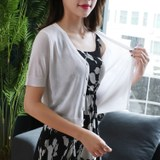 2019 new ice silk cardigan women's knitted summer short outer blouse with small shawl with suspender skirt ultra-thin