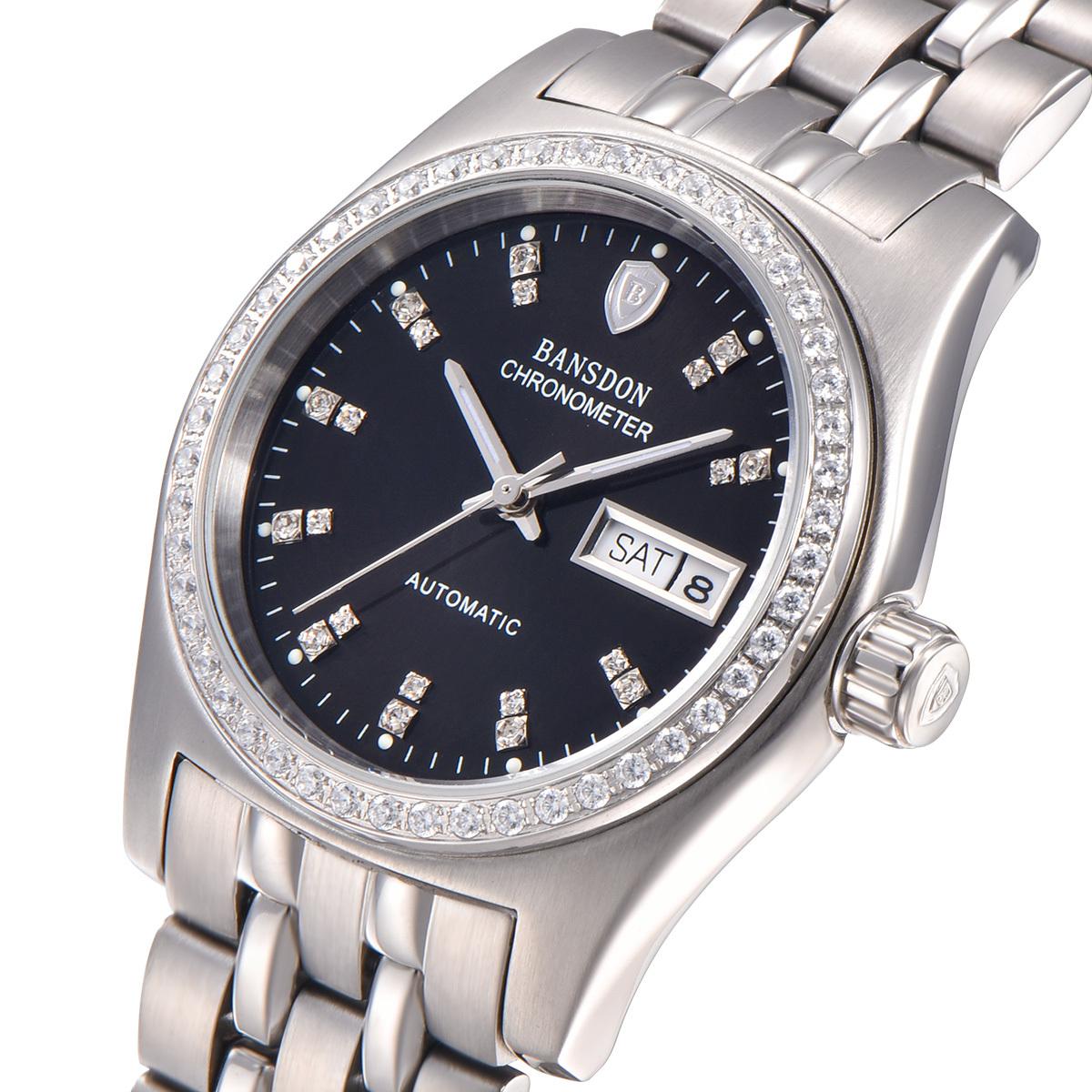 手表男士腕表双日历全自动机械表防水镂空金表商务男表