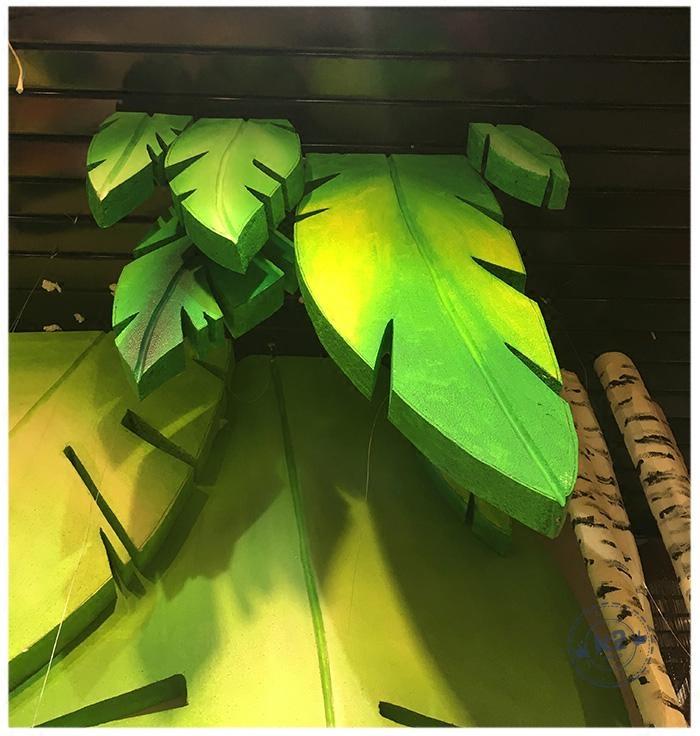 春夏季男女装橱窗摆件装饰陈列道具叶子定制商场dp点美陈展厅布置