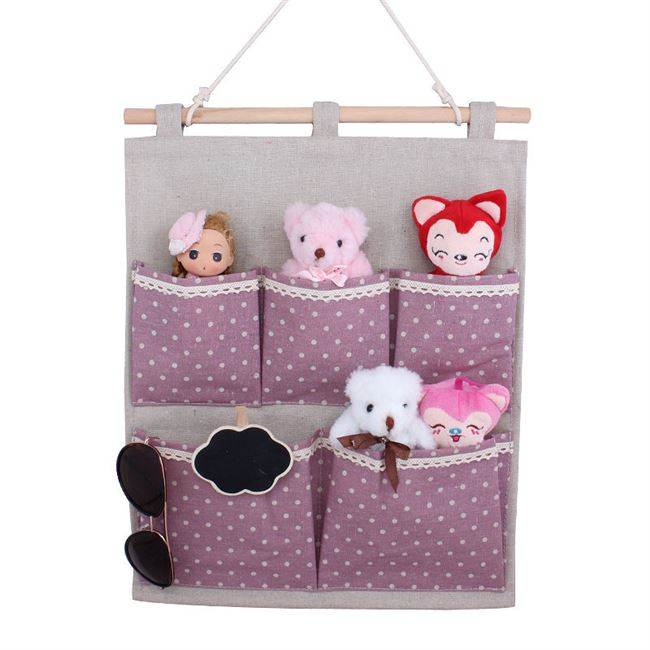 After hanging closet door multilayer pouch wall storage bag Bag Zhiwu Dai cloth hanging closet wall