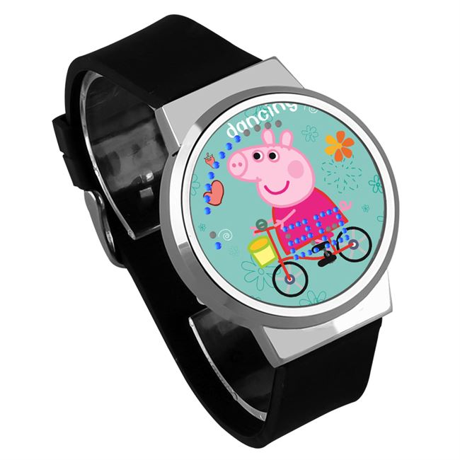 Piglet Peggy Peggy Watch George Boy Girl Children Toy Pink Pig Girl Student LED Touch Screen Watch