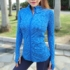 Thinning Yoga Jacket Workout Clothes Top Long Sleeve Sports Tight Zipper Cardigan Jacket T-shirt Section Dyed Stand-up Collar Women