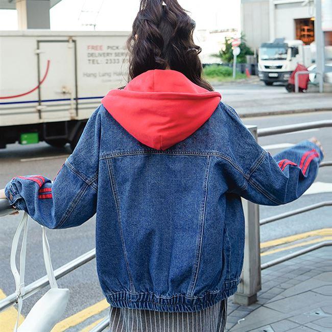 牛仔外套女生春秋装2020新款潮初中高中学生韩版宽松百搭运动上衣