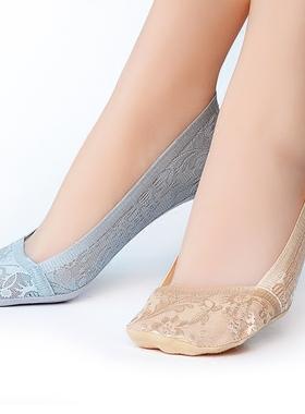 船袜女浅口隐形袜子春夏季薄款硅胶防滑纯棉底袜套韩版蕾丝短袜女