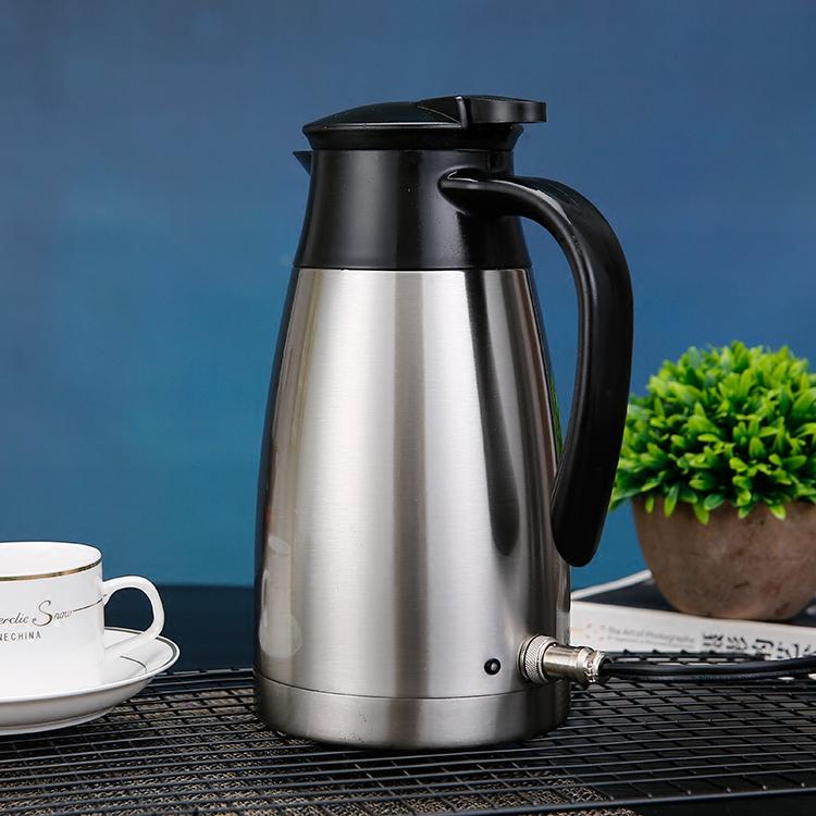 车载电热杯壶汽车用烧水壶加热杯12V24V均可通用容量1L加热至沸腾
